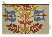 """Drawing For Plate 4: From Portfolio """"folk Art Of Rural Pennsylvania"""" Carry-all Pouch"""