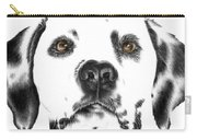 Drawing Of A Dalmatian Dog Carry-all Pouch