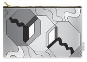 Drawn2shapes7bnw Carry-all Pouch