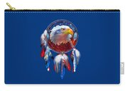 Dream Catcher - Eagle Red White Blue Carry-all Pouch by Carol Cavalaris