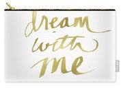 Dream With Me Gold- Art By Linda Woods Carry-all Pouch