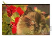 Dreamy Cat With Geranium 2015 Carry-all Pouch