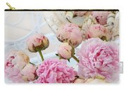 Dreamy Shabby Chic Romantic Peonies - Garden Peonies White Mason Jars Carry-all Pouch