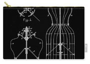 Dress Form Patent 1891 Black Carry-all Pouch