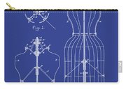 Dress Form Patent 1891 Blue Carry-all Pouch