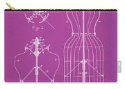 Dress Form Patent 1891 Pink Carry-all Pouch