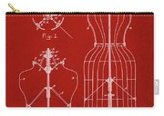 Dress Form Patent 1891 Red Carry-all Pouch