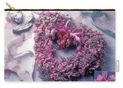 Dried Flower Heart Wreath Carry-all Pouch
