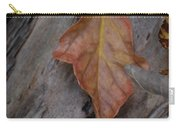 Dried Leaf On Log Carry-all Pouch