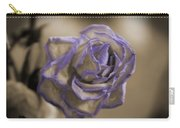 Dried Rose In Sienna And Ultra Violet Carry-all Pouch