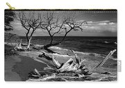Driftwood Bw Fine Art Photography Print Carry-all Pouch