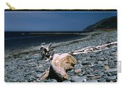 Driftwood On Rocky Beach Carry-all Pouch