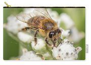 Drinking Up The Nectar, Apis Mellifera Carry-all Pouch