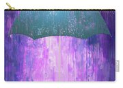 Dripping Poster Purple Rain Carry-all Pouch