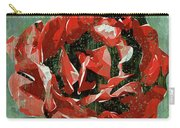 Dripping Poster Rose On Green Carry-all Pouch
