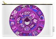 Drop Mandala Purple And Blue Carry-all Pouch