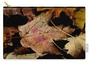 Droplets On Fallen Leaves Carry-all Pouch
