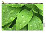 Drops On Leaves Carry-all Pouch by Carlos Caetano