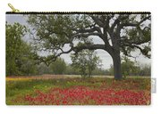 Drummonds Phlox Meadow Near Leming Texas Carry-all Pouch by Tim Fitzharris