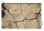 Dry Cracked Earth And Green Leaf Carry-all Pouch