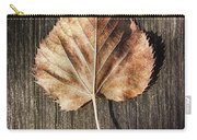 Dry Leaf On Wood Carry-all Pouch