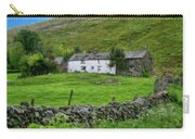 Dry Stone Wall And White Cottage - P4a16022 Carry-all Pouch