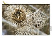 Dry Thistle Buds Carry-all Pouch