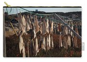 Drying Pieces Of Salt Cod In Bonavista, Nl, Canada Carry-all Pouch