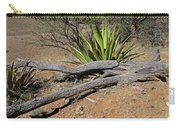 Agave And Log Carry-all Pouch