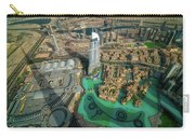 Dubai Downtown Aerial View By Sunset, Dubai, United Arab Emirates Carry-all Pouch