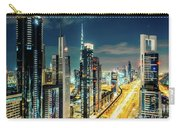 Dubai Downtown Architecture And A Highway.  Carry-all Pouch