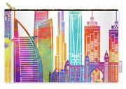 Dubai Landmarks Watercolor Poster Carry-all Pouch