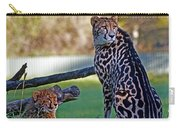 Dubbo Zoo Queen - King Cheetah And Cub Carry-all Pouch