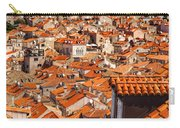 Dubrovnik Orange Old Town Rooftops Carry-all Pouch