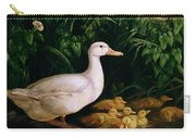 Duck And Ducklings Carry-all Pouch by English School