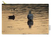 Duck And Swan At Sunrise Carry-all Pouch