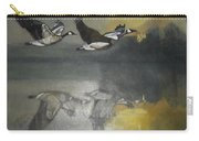 Duck Are Flying On The Sea Side Carry-all Pouch