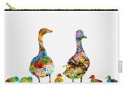 Duck Family-colorful Carry-all Pouch