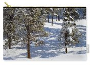 Duck Pond In Colorado Snow Carry-all Pouch