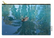 Duck Swimming In The Blue Lagoon Carry-all Pouch