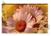 Fuzzy Duckling And Daisies Carry-all Pouch