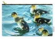Ducklings Digital Water Color Carry-all Pouch