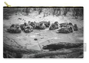 Ducklings Siblings - Grayscale Carry-all Pouch