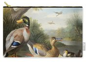Ducks In A River Landscape Carry-all Pouch