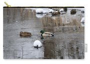 Ducks In Winter Carry-all Pouch