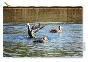Ducks On Colorful Pond Carry-all Pouch