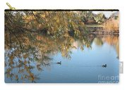 Ducks On Peaceful Autumn Pond Carry-all Pouch