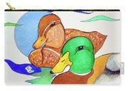 Ducks2017 Carry-all Pouch by Loretta Nash