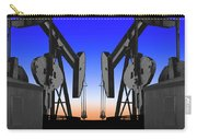Dueling Oil Well Pumps Carry-all Pouch