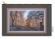 Dundalk Avenue In Winter. L A With Alt. Decorative Printed Frame. Carry-all Pouch